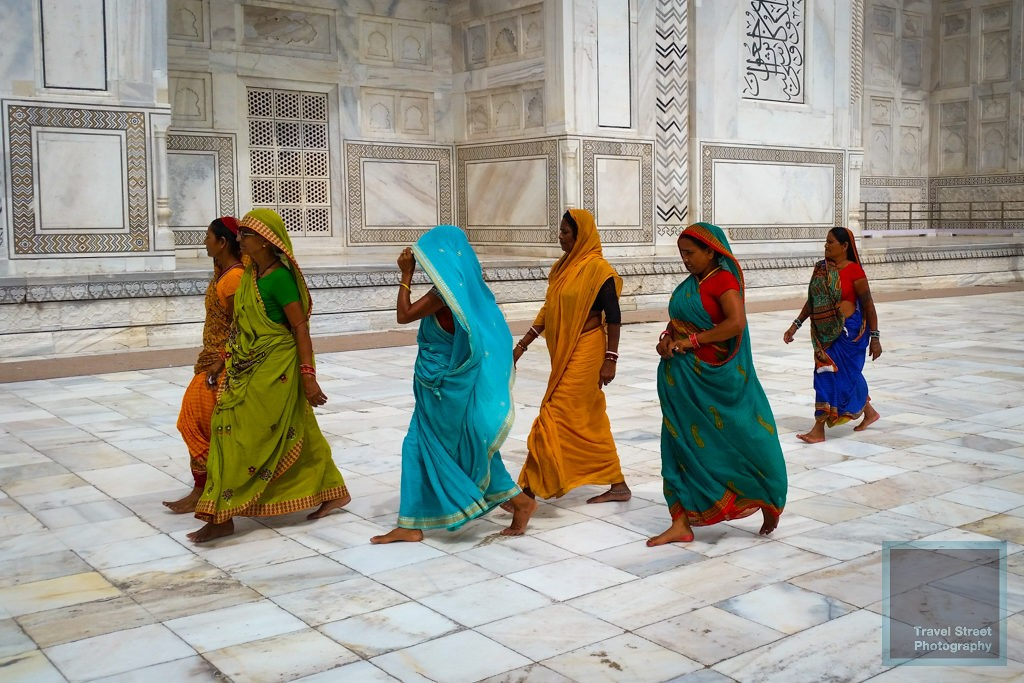 travel street photography colors india agra taj mahal people