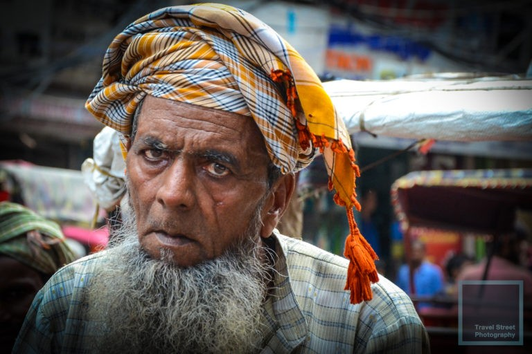 travel street photography exhausted rickshaw puller old delhi india people portrait