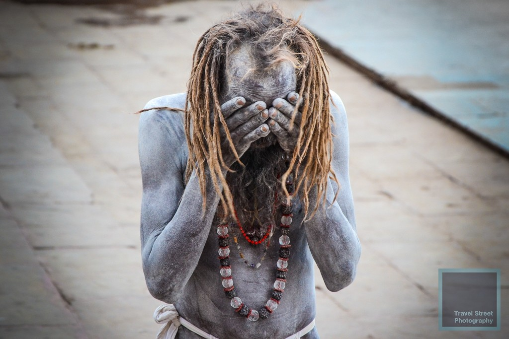 travel street photography ash smeared sadhu varanasi benares india people