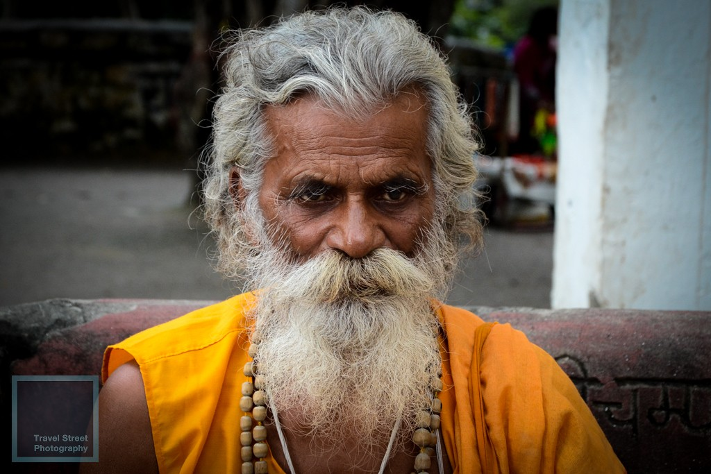 travel street photography sadhu with a blank stare rishikesh india people portrait