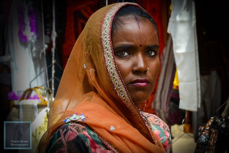 travel street photography dark skinned indian woman pushkar india people portrait
