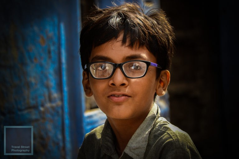 travel street photography indian boy with glasses jodhpur india people portrait