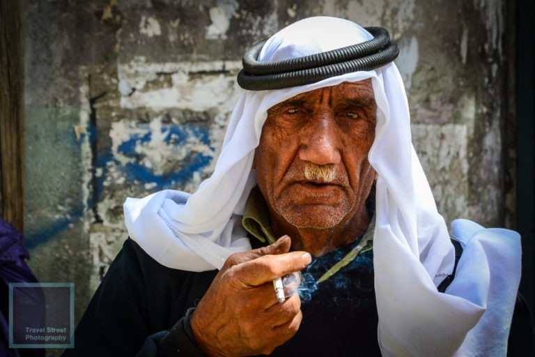 travel street photography palestinian man smoking hebron palestine people portrait