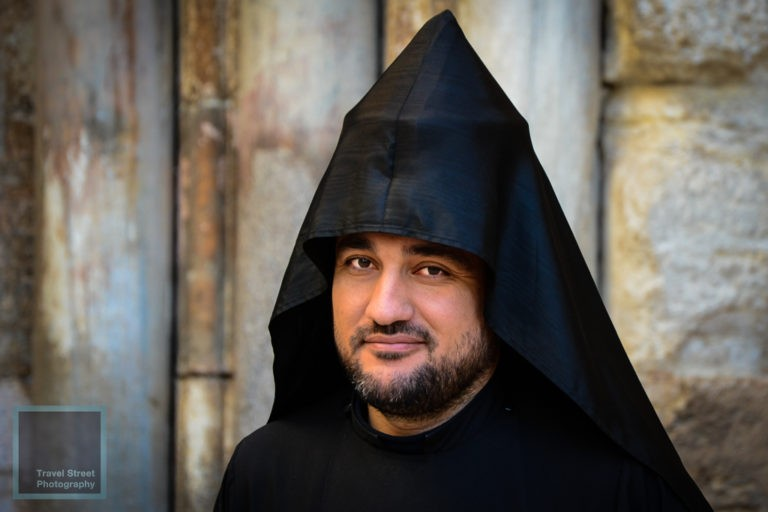 travel street photography armenian priest jerusalem people portrait